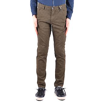 Daniele Alessandrini Ezbc107071 Men's Green Cotton Pants