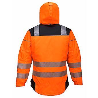 Portwest - PW3 visie Hi-Vis veiligheid werkkleding regenjas