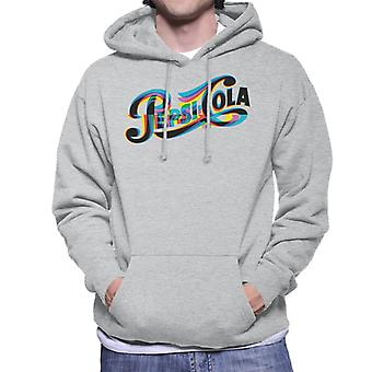 Pepsi 1940s Glitch Logo Men's Hooded Sweatshirt