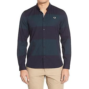 Fred Perry Men's Textured Stripe Long Sleeve Shirt M7284-608