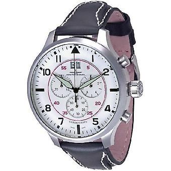 Reloj Zeno-watch de Super de gran tamaño Chrono Navigator 6221N-8040Q-a2