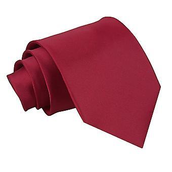 Burgundy oformaterad Satin Extra långa slips