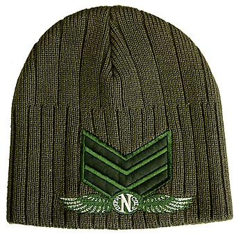 Darkncold Ribbed Army Beanie Olive Green