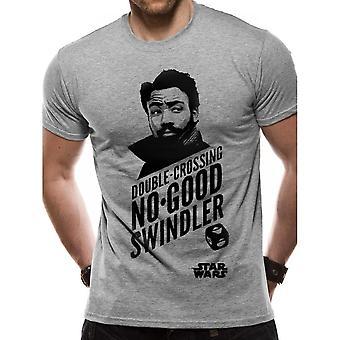 Han Solo Movie Unisex Adults Lando Double-Crossing No Good Swindler Design T-Shirt