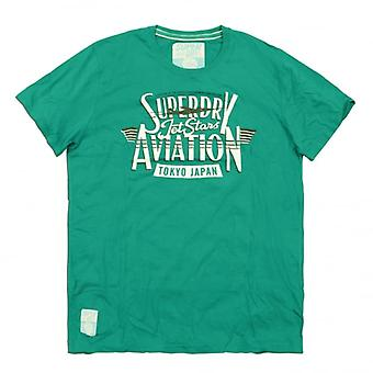 Superdry Sale Jetstars Aviation Tee, Kerosene