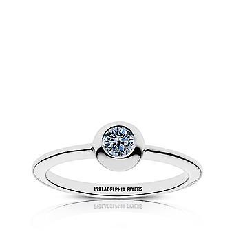 Philadelphia Flyers Sapphire Ring In Sterling Silver Design by BIXLER