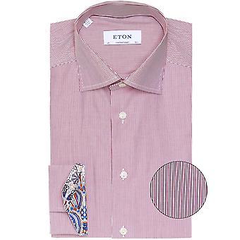 Eton Contemporary Fit raidallinen Popliini paita
