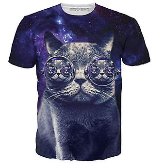 Allthemen Cat Printed Slim Fit Casual Shirt