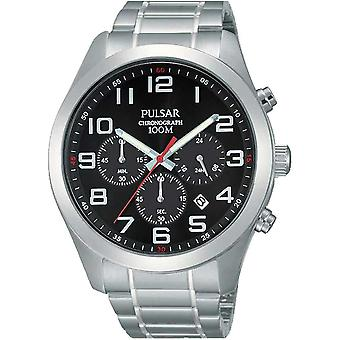 Press active Quartz Analog Man Watch with PT3661X1 Stainless Steel Bracelet
