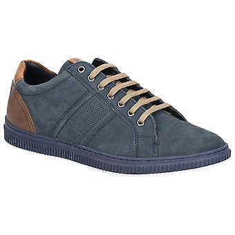 Basis Londen Mens Rubix Softy Lace Up Trainer Navy