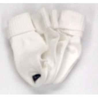 Stride Rite Girls 3-Pack Comfort Costura Calcetines Blanco Tobillo
