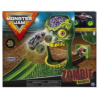 Monster Jam 1:64 Basic Stunt Playsets ZOMBIE ZONE et Zombie Monster Truck