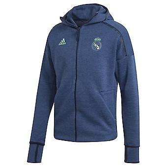 2019-2020 Real Madrid Adidas ZNE 3.0 Anthem Jacket (Night Indigo)
