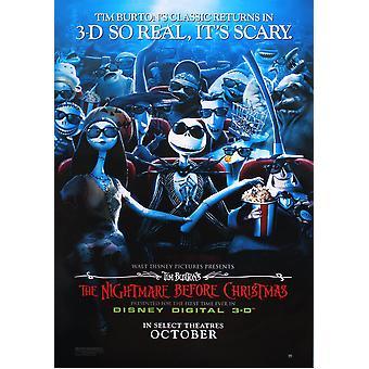 Pesadilla antes de teaser poster Disney Digital 3D de Navidad