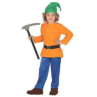 Boys Forest Dwarf Gnome Fancy Dress Costume