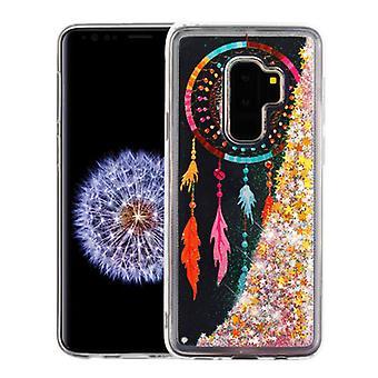 Dreamcatcher & estrelas de ouro Quicksand glitter Hybrid protector capa para Galaxy S9 Plus
