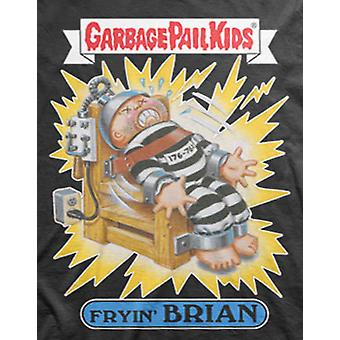 Garbage Pail Kids T Shirt Fryin Brian Electric Chair Logo new Official Mens