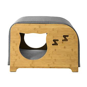 SoBuy Cat House Cat Cama Gato Litter Box Pet House Banco Taburete con Cojines,
