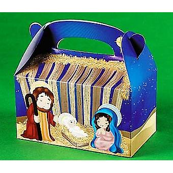 8 Nativity Christian Christmas Treat eller Party mat lunsj bokser