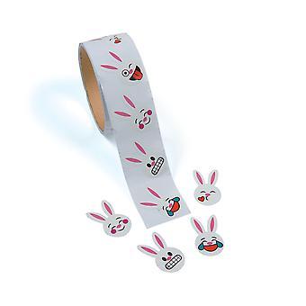 Rol van 100 Emoji gezicht Bunny Stickers - Pasen Crafts | Childrens ambacht Stickers