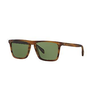 Oliver Peoples Bernardo OV5189S 132652 matte sandelhout/groene zonnebrillen