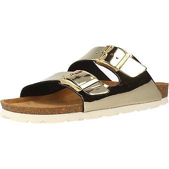 Gele winkel sandalen Hawaii kleur platina
