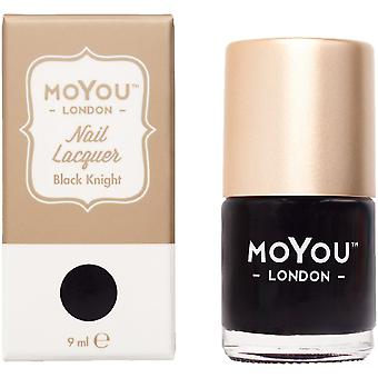 MoYou London Stamping Nail Lacquer - Black Knight 9ml (MN013)