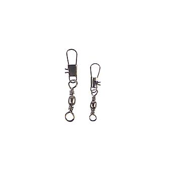 Swimerz Barrel Swivel With Interlock Snap Black Nickel 40 Pack