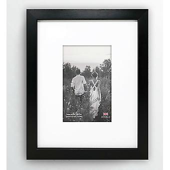 Photo Picture Frame Oxford Wood Effect 10x8 For 6x4 Wide Wall Mount