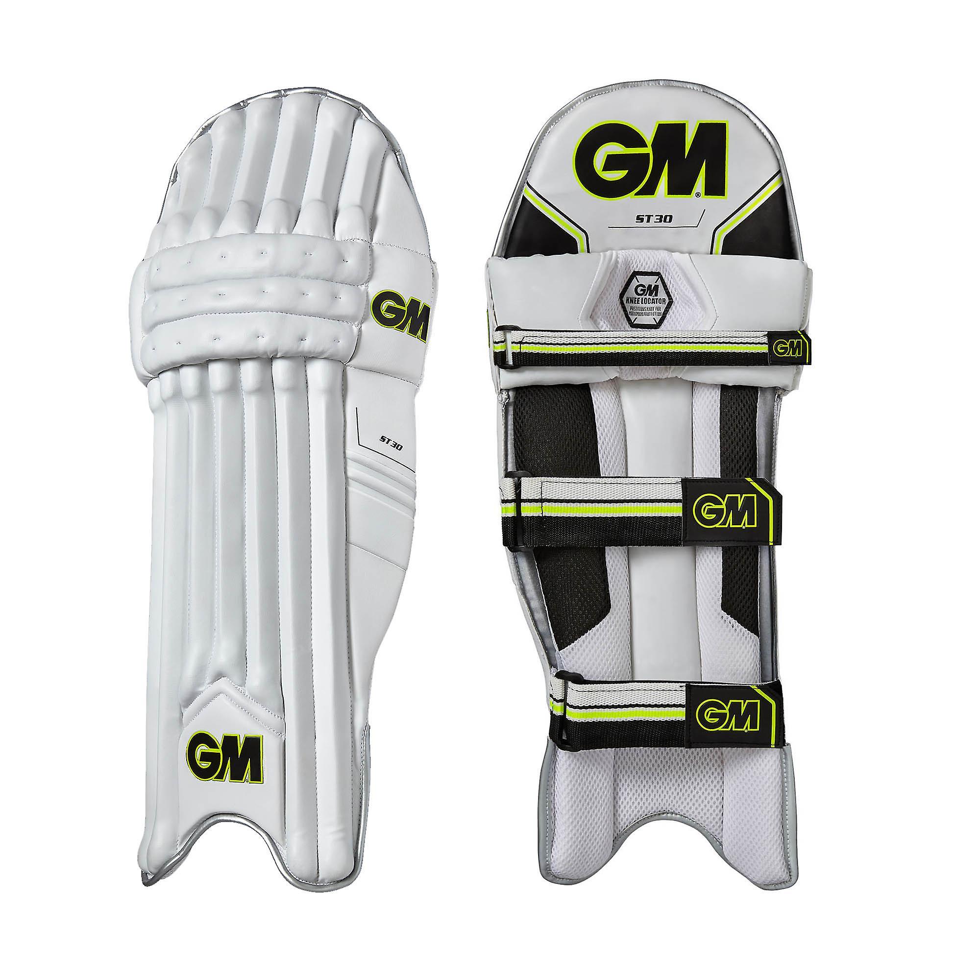 Gunn & Moore ST30 Cricket Batting Pads LegGuards White/Black/Lime