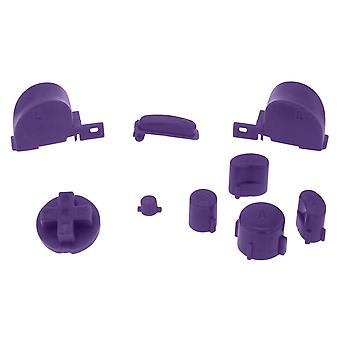 Zedlabz replacement button set mod kit for nintendo gamecube controllers - purple