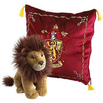 Gryffindor Cushion with House Mascot Plush from Harry Potter