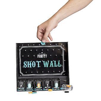 Drinken spel shot Wall Party shot muur drinken spel, incl. chips en 6 glazen, gemaakt van kunststof.