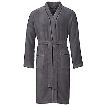 Vossen 162199-766 Men's Lorenzo Graphite Grey Dressing Gown Loungewear Bath Robe Robe