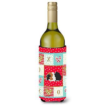 Carolines Treasures  CK5426LITERK Abyssinian Guinea Pig Love Wine Bottle Hugger