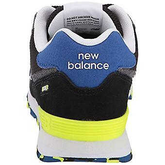 New Balance Boys 574v1 Lace-Up Sneaker,, Black/Royal Blu, Rozmiar 2 Szerokie Niemowlę