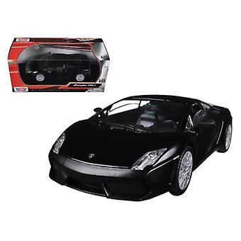 Lamborghini Gallardo Lp-560-4 Matt Black 1/24 Diecast Car Model By Motormax