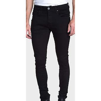 883 Police Deegan Skinny Fit Black Jeans