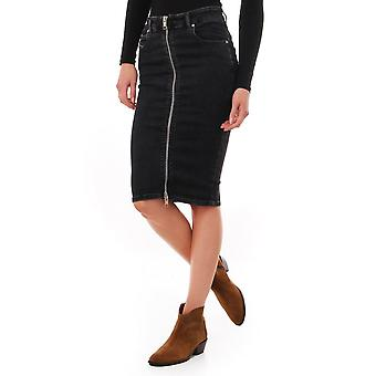 Diesel Zip Front Denim Skirt
