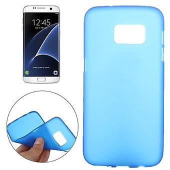 Samsung Galaxy S7 EDGE takakotelo, ohut himmeä suojakansi, sininen