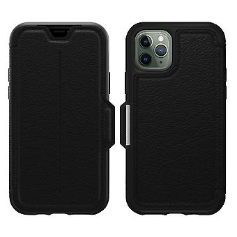 iPhone 11 Pro Leather Folio Case with Card Slots- Strada Via- Otterbox, Black