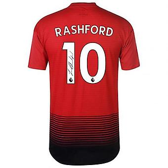 Manchester United Rashford Signed Shirt 2018-19