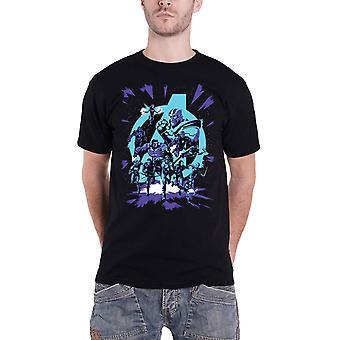 أعجوبة المنتقمون تي قميص تجميع شعار المجموعة الرسمية الجديدة الرجال الأسود