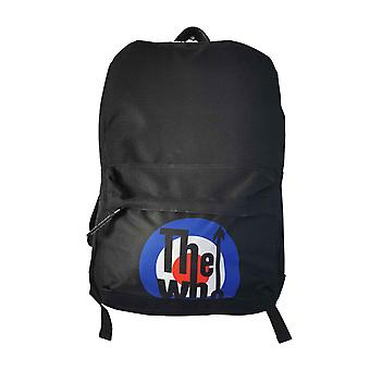 The Who Backpack Bag Classic MOD Target Band Logo new Official Black