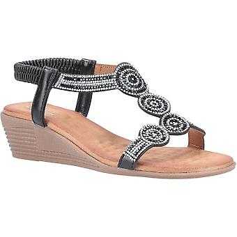 Divaz mujeres Sasha Slip en sandalias de verano brillantes