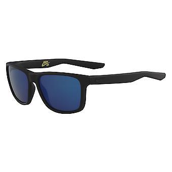 Nike Flip M EV0989 074 Matt Schwarz/Blau Spiegel Sonnenbrille