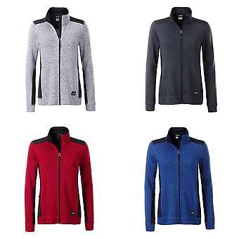 James en Nicholson Womens/dames gebreide werkkleding Fleece jas