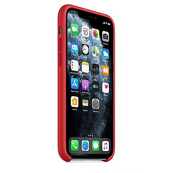 Originalverpackung MWYH2ZM/A Apple Silikon Mikrofaser Cover Hülle für iPhone 11 Pro - rot