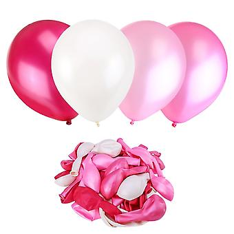 50x Pearl Latex Balloons For Parties And Decorations Toy For Kids 50 Pieces  Colours: Light Pink Pink Plum