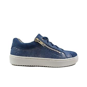 Superfit Heaven 06489-80 Blue Suede Leather Combi Girls Lace/Zip Up Shoes